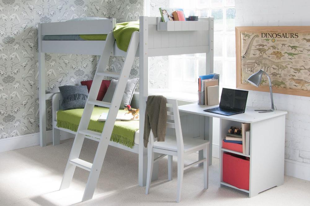 Fargo High Sleeper Loft Bed with Sofa Bed & Storage Desk