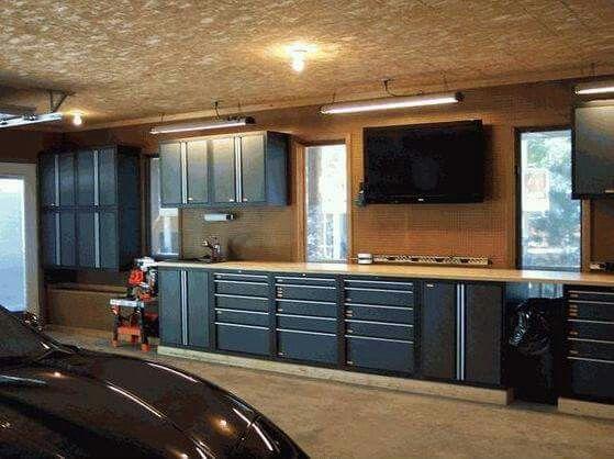 werkstatt einrichten garage wohn design. Black Bedroom Furniture Sets. Home Design Ideas