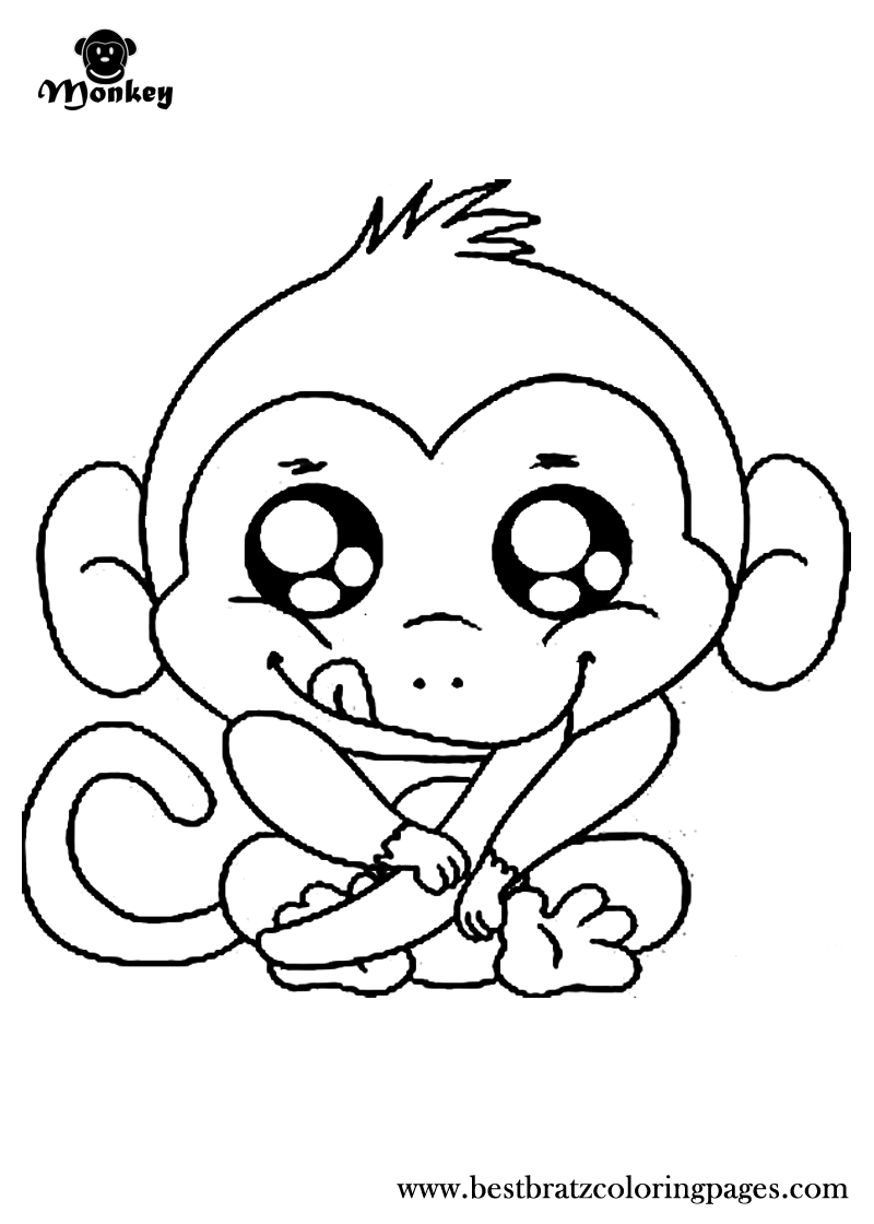 free printable monkey coloring pages for kids - Monkey Coloring Pages