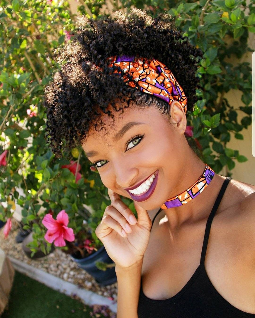 Pin By Eliana Antun On Beauty Short Natural Hair Styles Scarf Hairstyles Headband Hairstyles