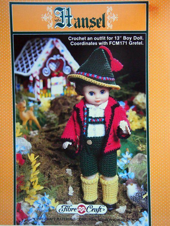 "Little Miss Muffet Outfit for 13/"" Dolls Crochet PATTERN INSTRUCTIONS FCM158"