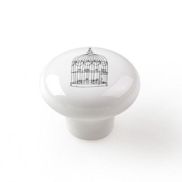 bouton de meuble porcelaine cage aux oiseaux tiroir vintage placard id es deco chambre enfant. Black Bedroom Furniture Sets. Home Design Ideas
