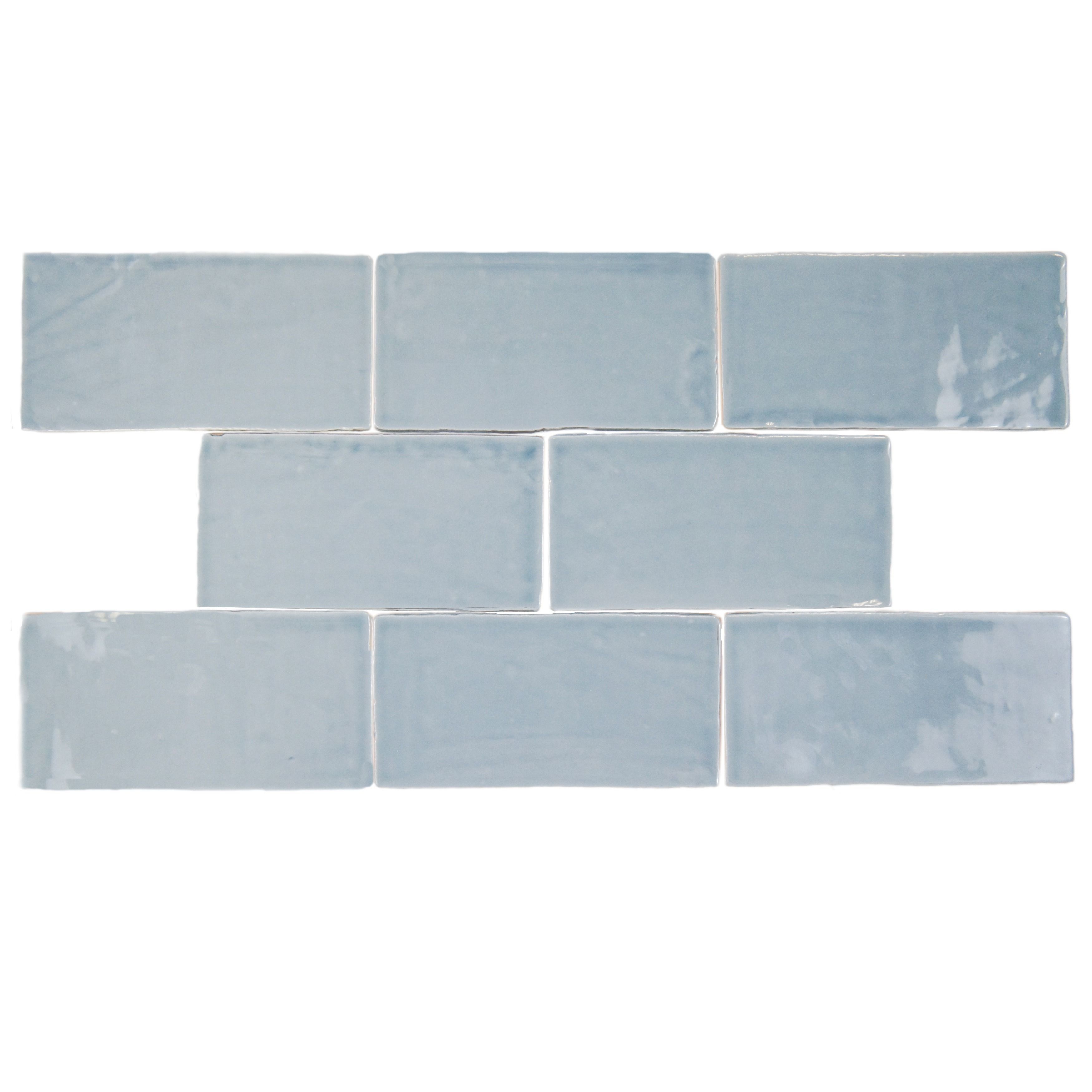 The SomerTile Thames Acqua 3 in. x 6 in. Ceramic Wall Tile has a ...