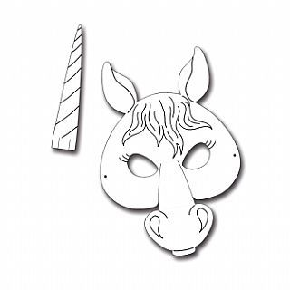 Card Masks To Decorate Horse Or Unicorn Printed Card Masks For Kids To Decorate  Pack Of