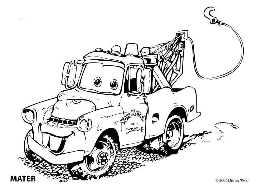 Tow Mater coloring page | birthdays | Pinterest