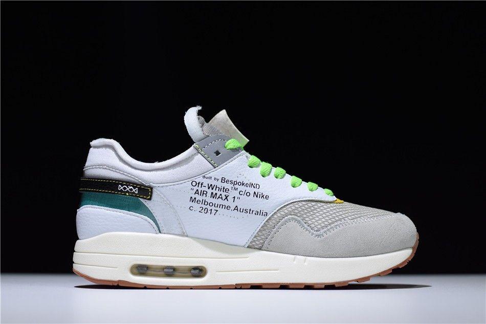 BespokeIND Nike Air Max 1 Custom White Grey Virgil Ablohs Off White A7293 100