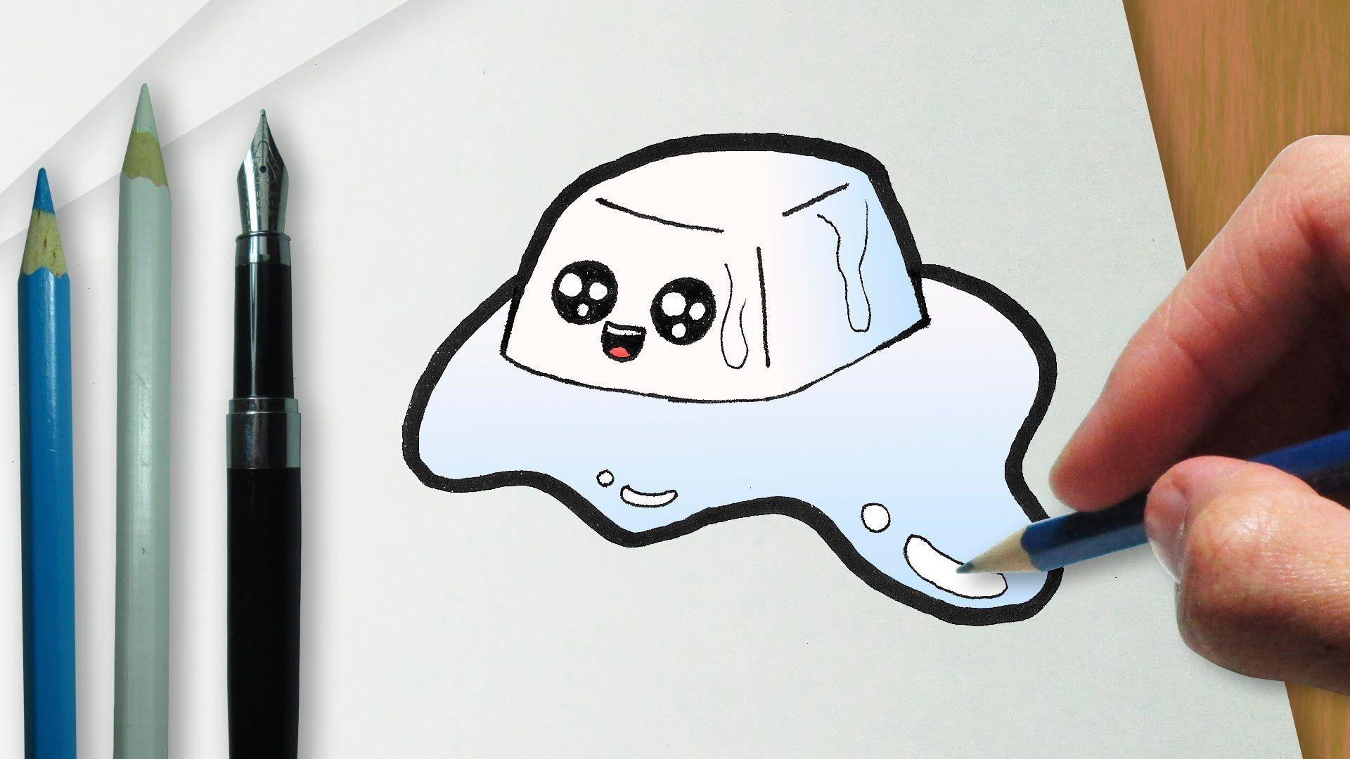 Como Desenhar Um Cubo De Gelo Kawaii Fofo Cubo De Gelo