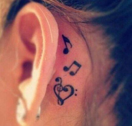 Photo of Music note tattoo behind ear beautiful 16 Ideas
