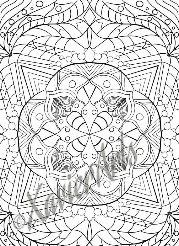 Mandala coloring page 1 in 2020 (With images) | Mandala ...