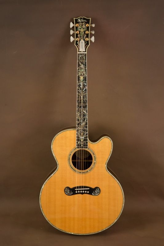 1993 Gibson J 200 Custom Vine Cutaway Acoustic Guitar Sj 200 Electric Guitar Design Guitar Acoustic Guitar