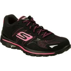 Women S Skechers Gowalk 2 Flash Black Hot Pink Skechers
