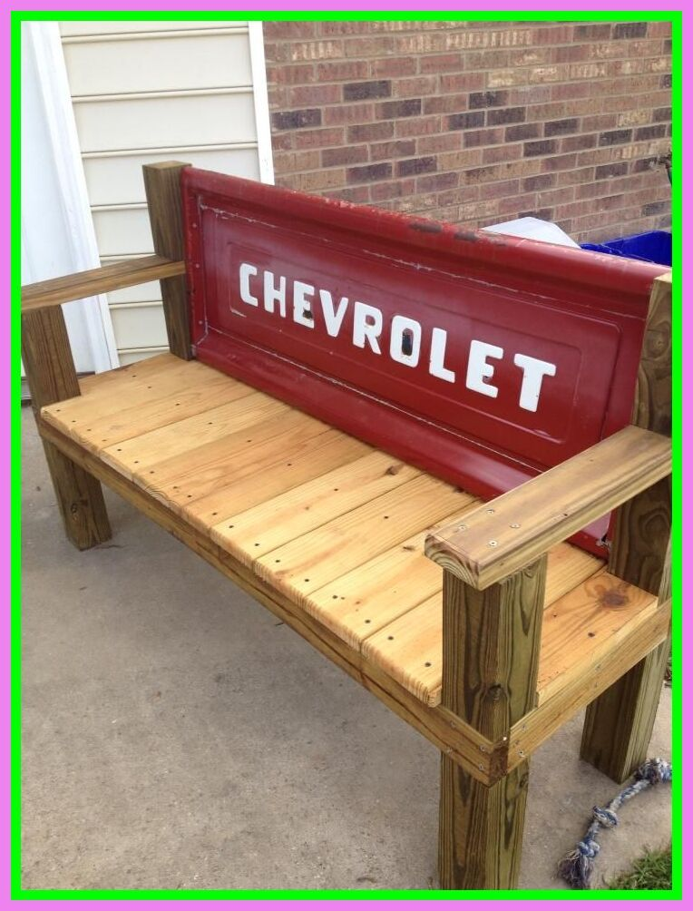 70 Reference Of Bench Wall Tailgate In 2020 Tailgate Bench Rustic Porch Swing Garden Bench Rustic