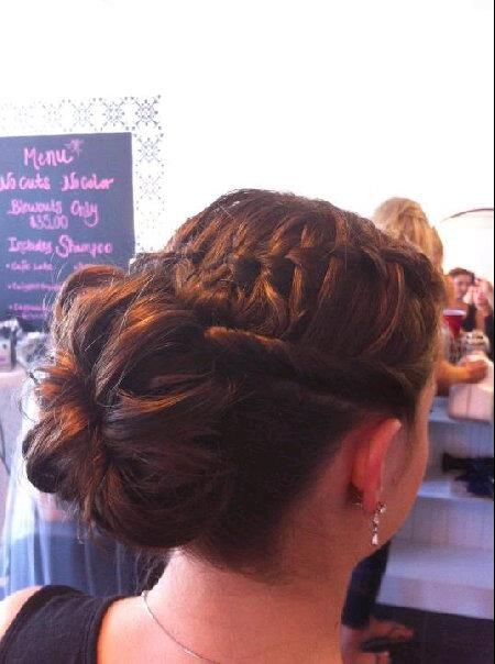 braided bun updo Tralise Salon