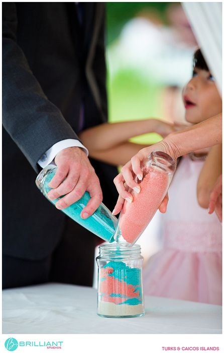 Pink And Blue Wedding Sand Brilliant Studios