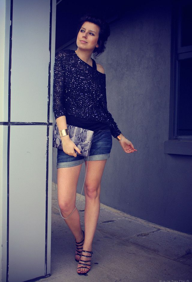 Sweaters, Manolo Blahnik  Heels / Wedges and levi's  Shorts
