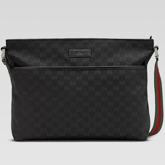 448b85e527353d Gucci Messenger Bag 189751 in Black | My Style | Gucci messenger ...