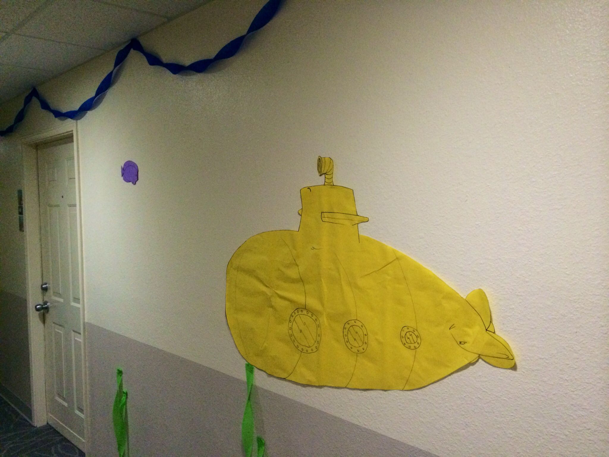 Yellow Submarine  Ra Hall Decorations For Under The Sea