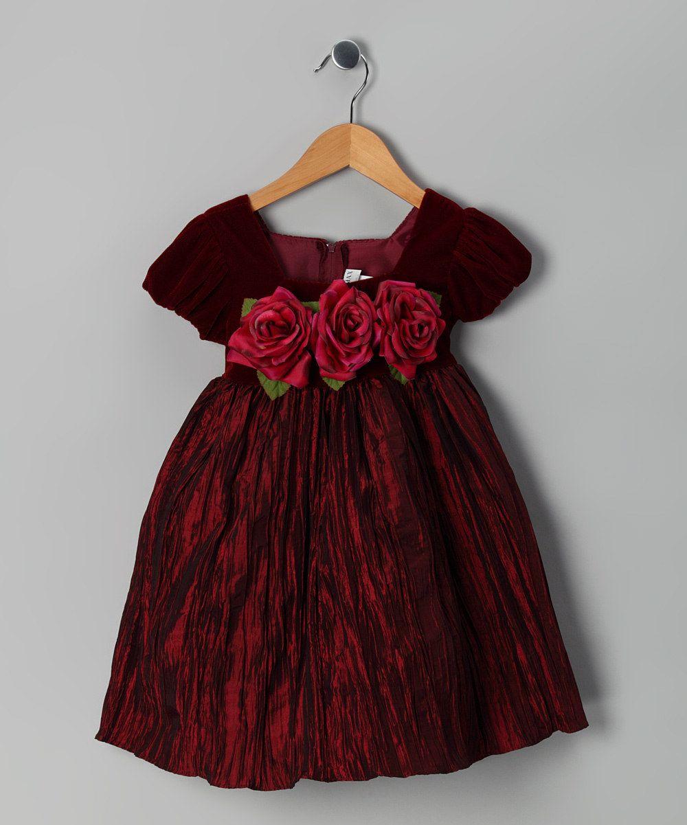Ella Amp Dax Burgundy Velvet Dress Toddler Amp Girls Ava S