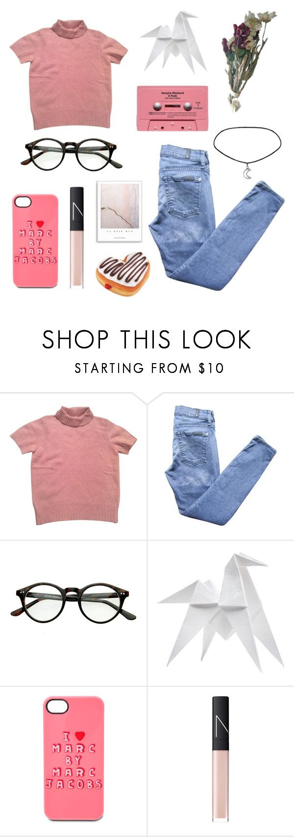 """""""Youth"""" by parais0x ❤ liked on Polyvore featuring Kenzo, 7 For All Mankind, Hermès, Marc by Marc Jacobs and NARS Cosmetics"""