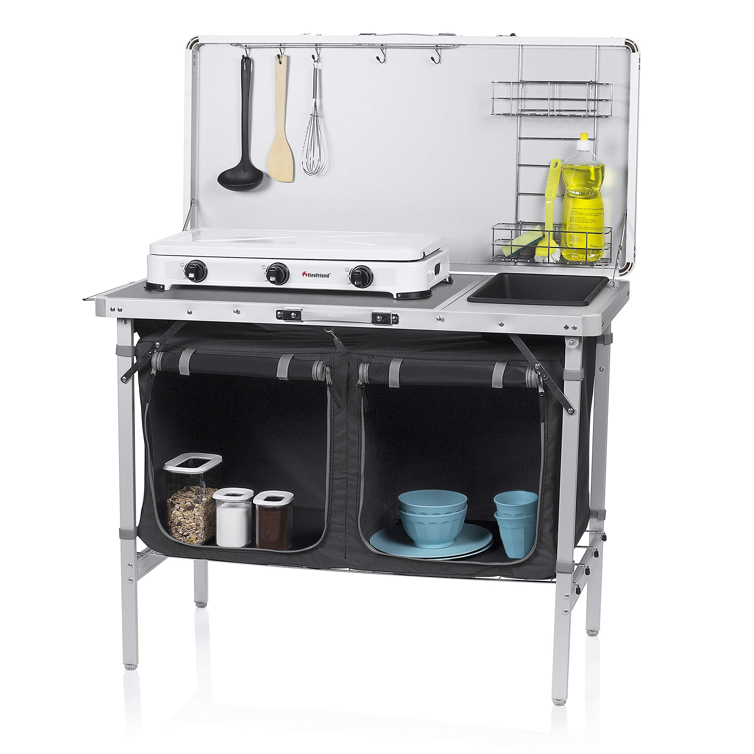 Campart Travel Ki 0757 Camping Kitchen Granada In 2020 Camping Kitchen Table Camp Kitchen Kitchen Storage