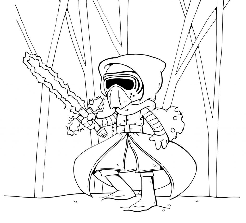 Kylo Ren Coloring Pages Cartoon Coloring Pages Cute Coloring