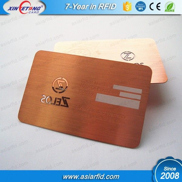 Brushed Rose Gold Metal Card With Signature Panel And Laser