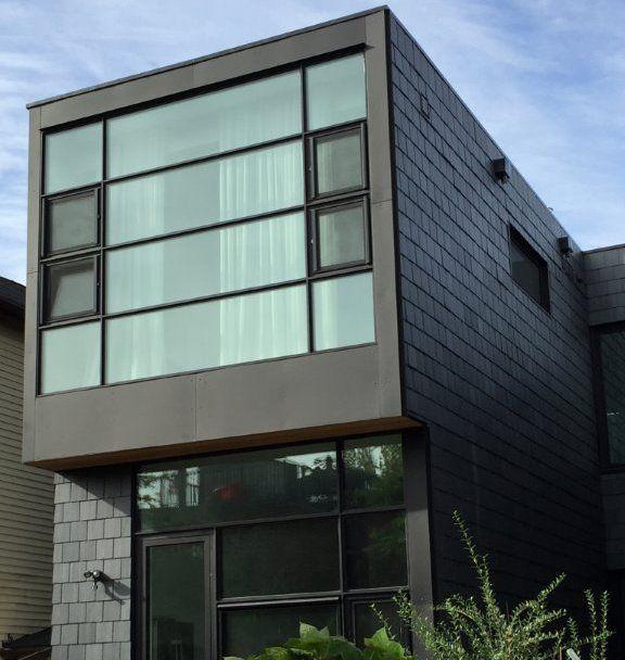 Custom Home Toronto Ontario Canada With Slate Siding Application Slate Roof Custom Homes Roofing