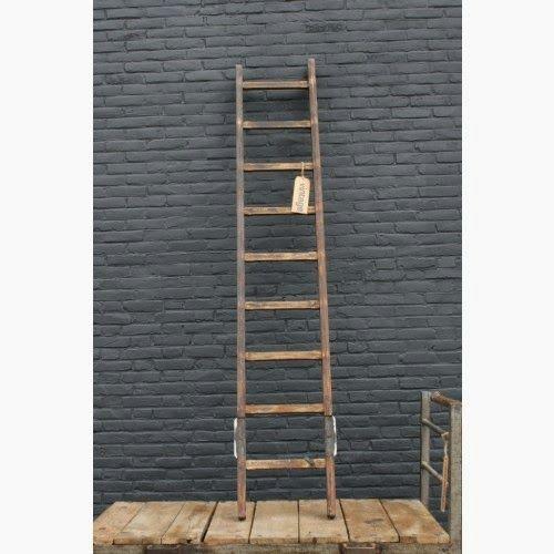 vintage houten ladder | Badkamer | Pinterest