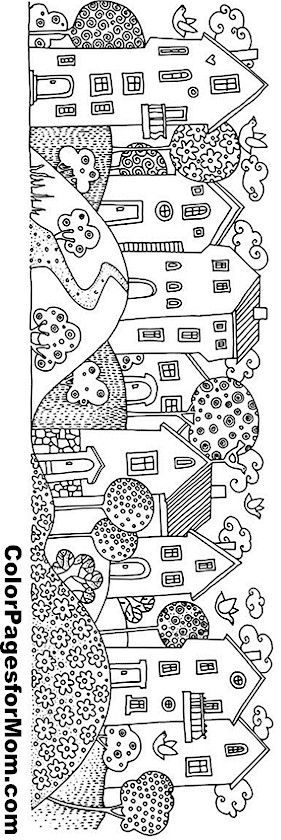 House Coloring Page 2 Coloring Pinterest House colors House