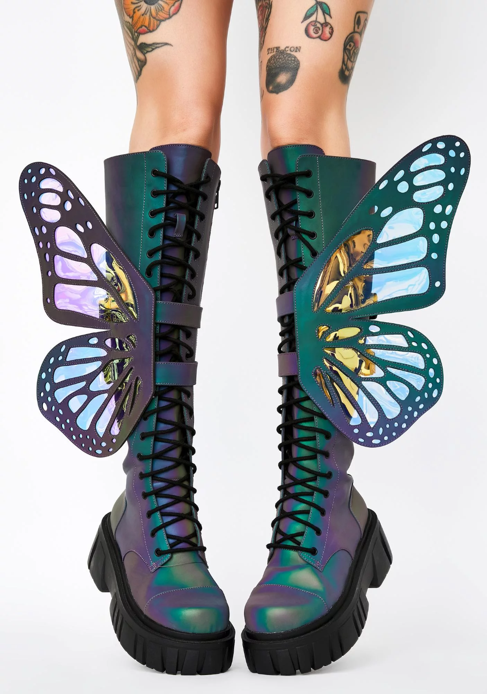 Butterfly Pattern 2 Handcrafted Boots