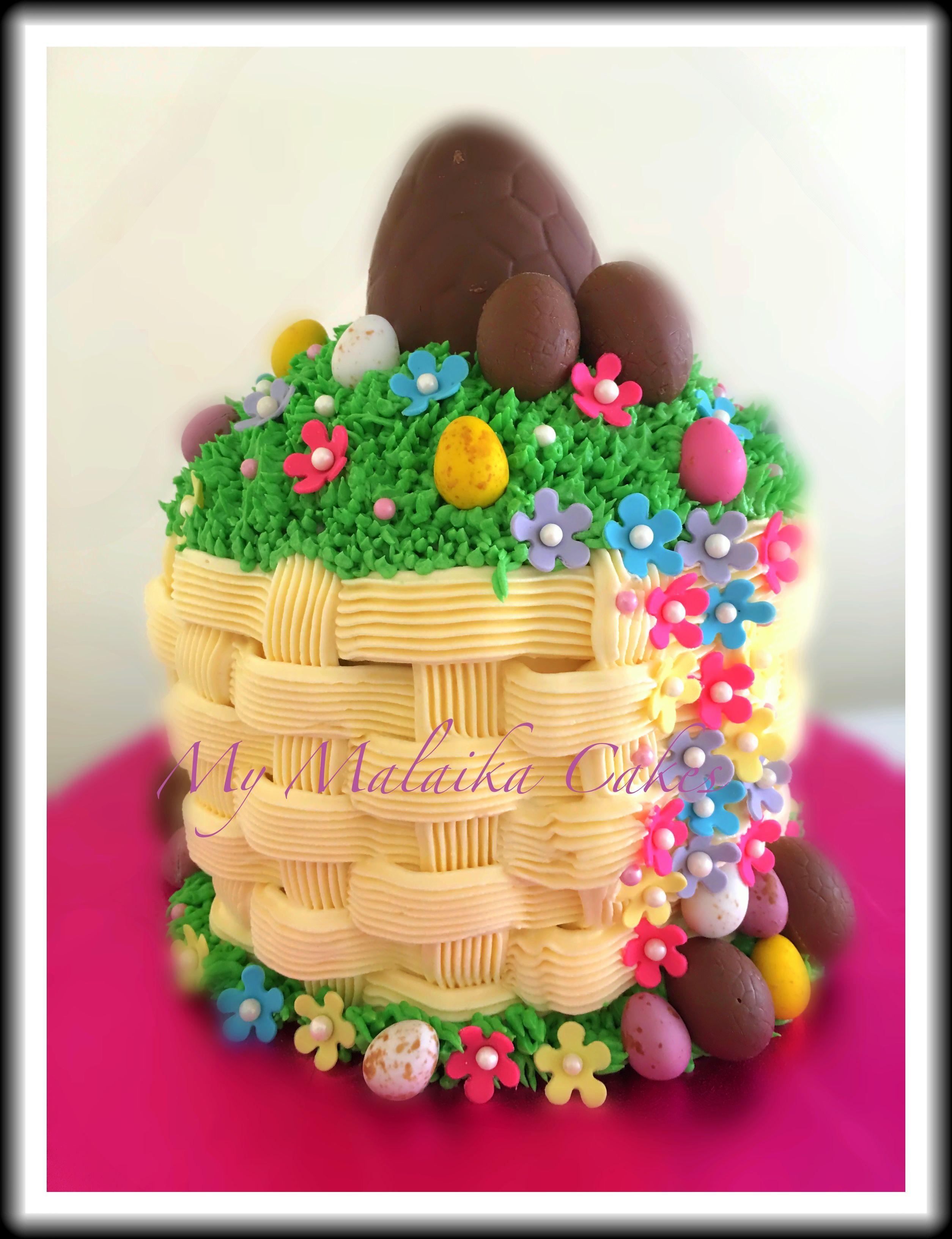 Easter basket cake easter baskets gingerbread cake