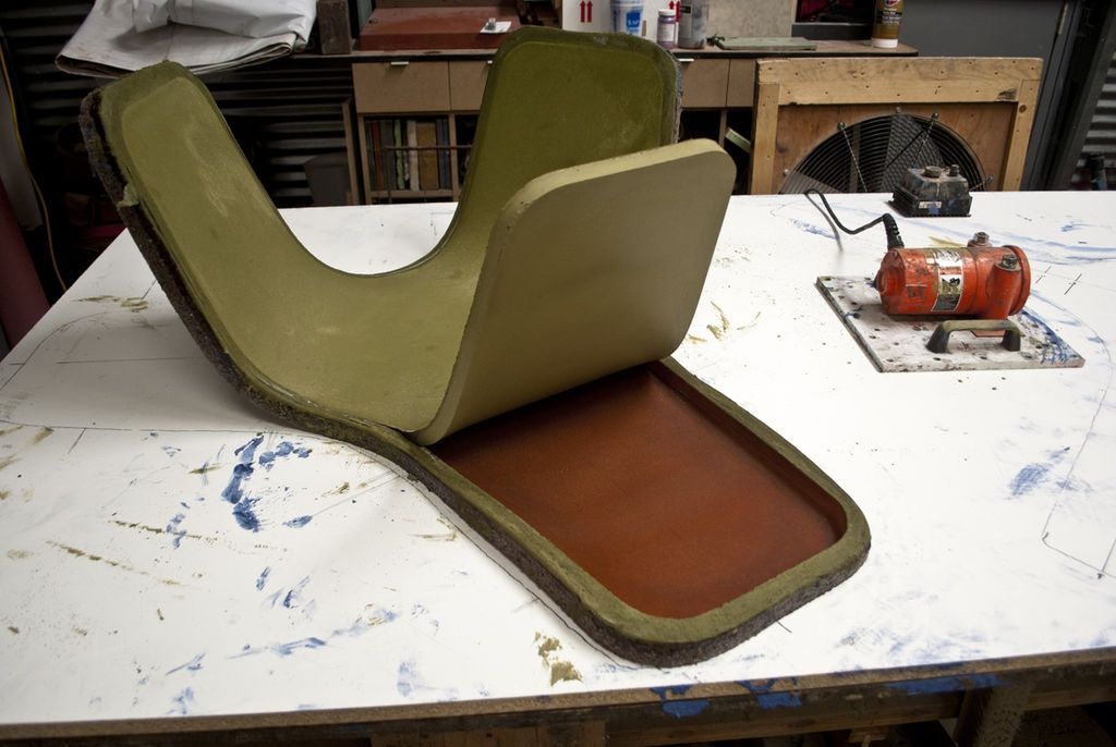 Bent Concrete Side Table From A Rubber Mold Cement Design