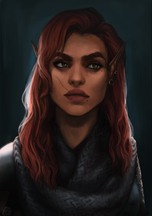 nhlahla half elf fighter dnd campaign online character