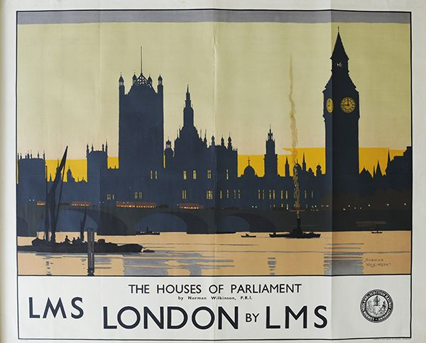 London Norman Wilkinson LMS  poster