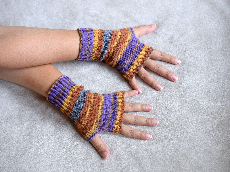 Thin wool wrist warmers, knit fingerless gloves, office gloves, thin mittens…