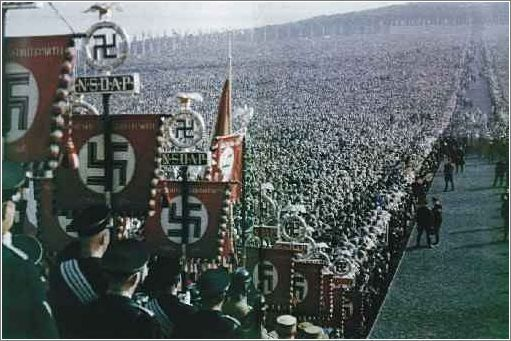 NSDAP standards at a party rally