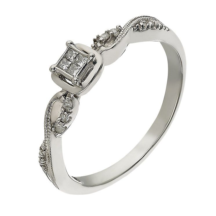 Sterling Silver 10 Point Diamond Ring Product Number 2261499 Diamond Ring Rings Diamond