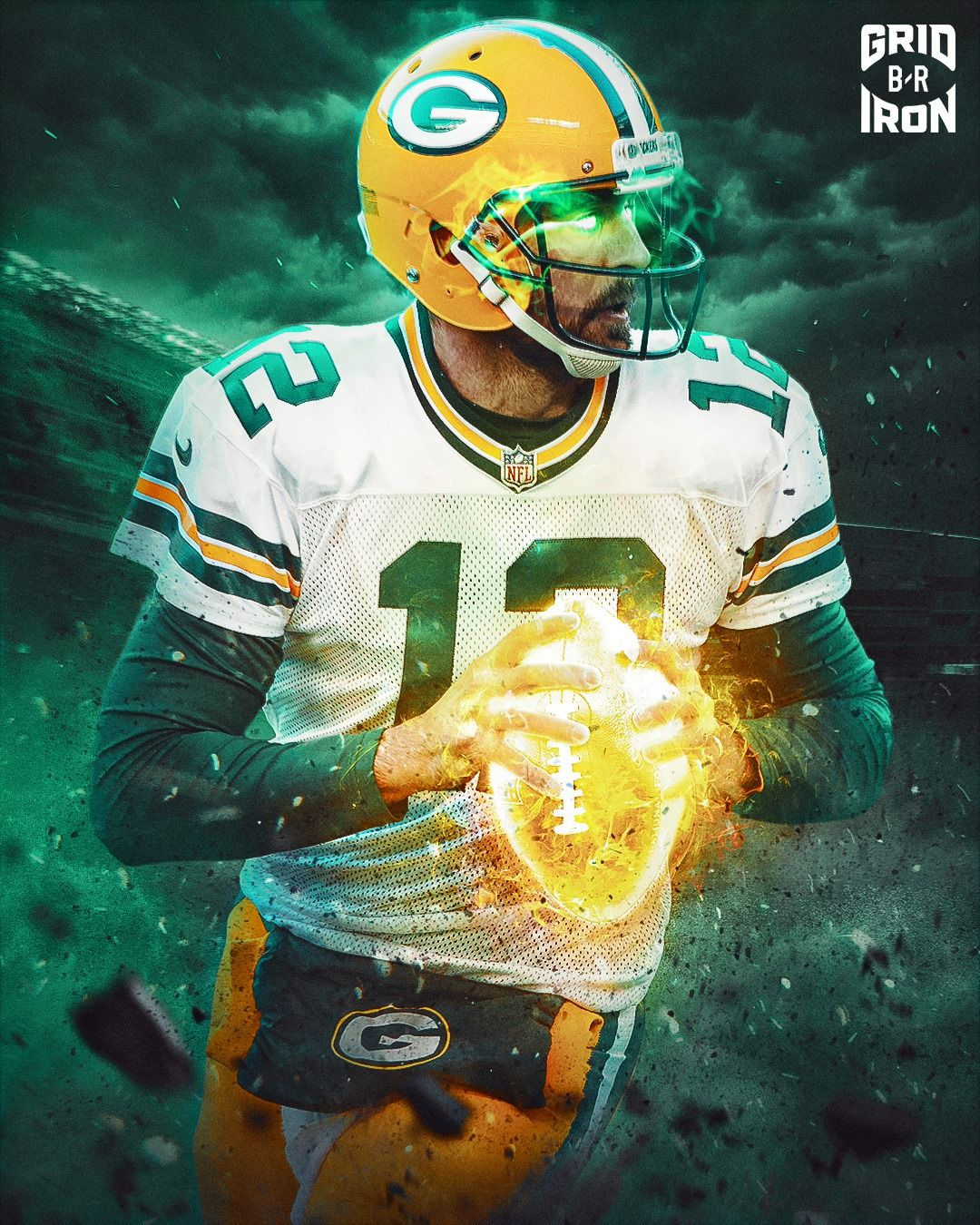Pin By Chris Davis On Aaron Rodgers In 2020 Green Bay Packers Art Green Bay Packers Wallpaper Green Bay Packers Fans
