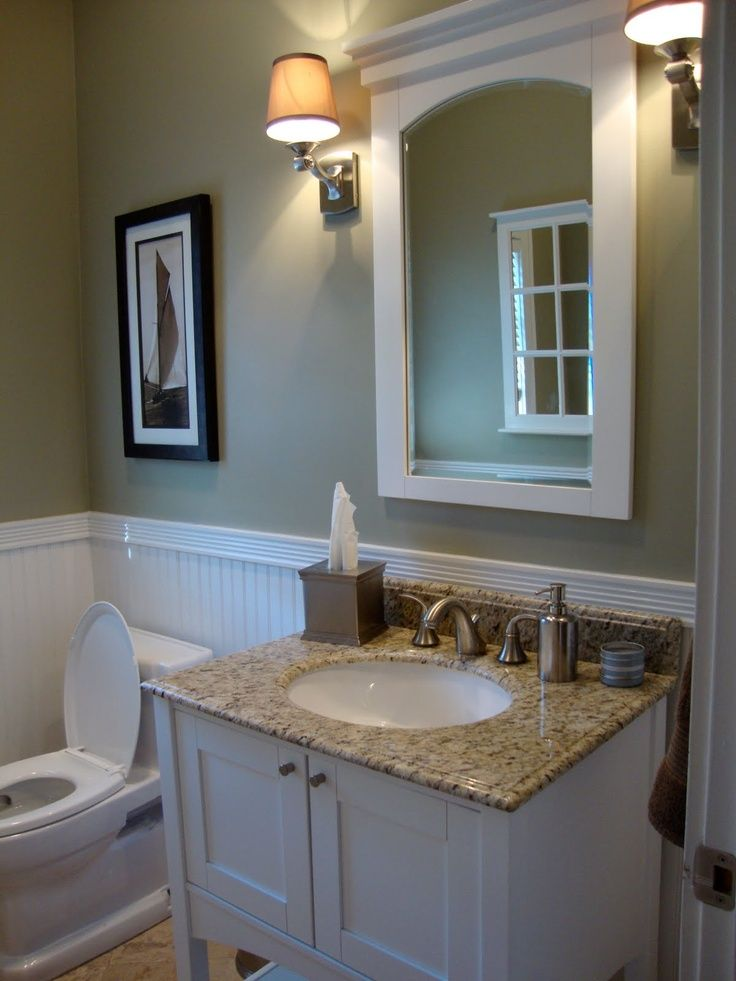 Guest Bathroom. Love The Beadboard And Color Combinations