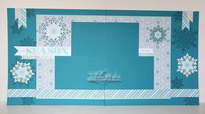 LW Designs: Celebrate the Season scrapbook pages using Festive Flurry