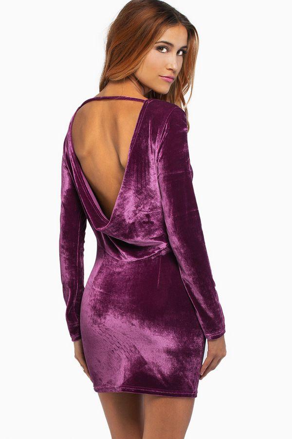 987893d10c Purple velour dress
