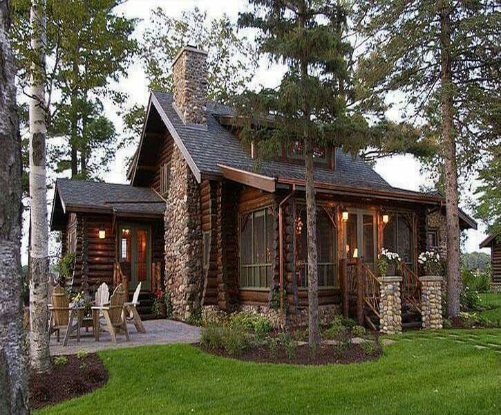 Pin By Merrilyn M On Small House Cabins And Cottages Log Homes Cabin Homes