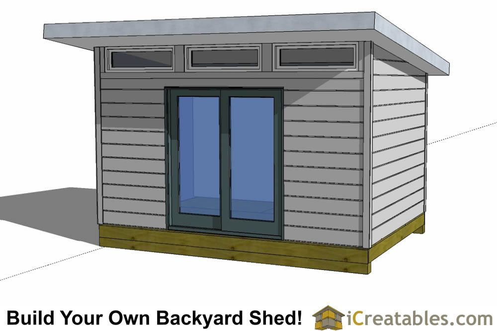 12x12 Shed Plans Build Your Own Storage Lean To Or Garage Shed Shed Design Modern Shed Diy Shed Plans