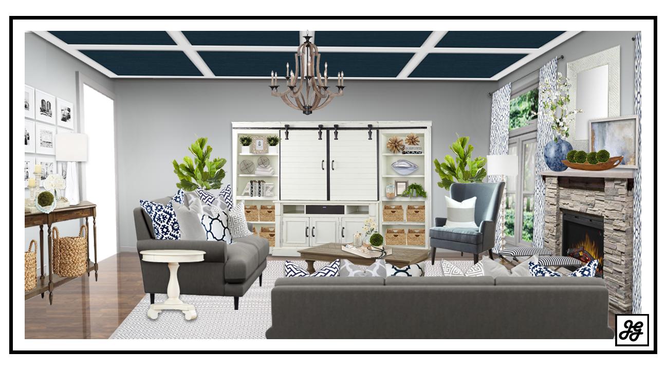 Modern Farmhouse Living Room Design Online Interior Design Online Design Tips Coastal Design Fixe Room Design Living Room Designs Affordable Interior Design