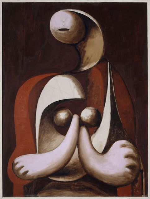 1 5 Fauteuil.Pablo Picasso Femme Assise Dans Un Fauteuil Rouge Woman Seated In
