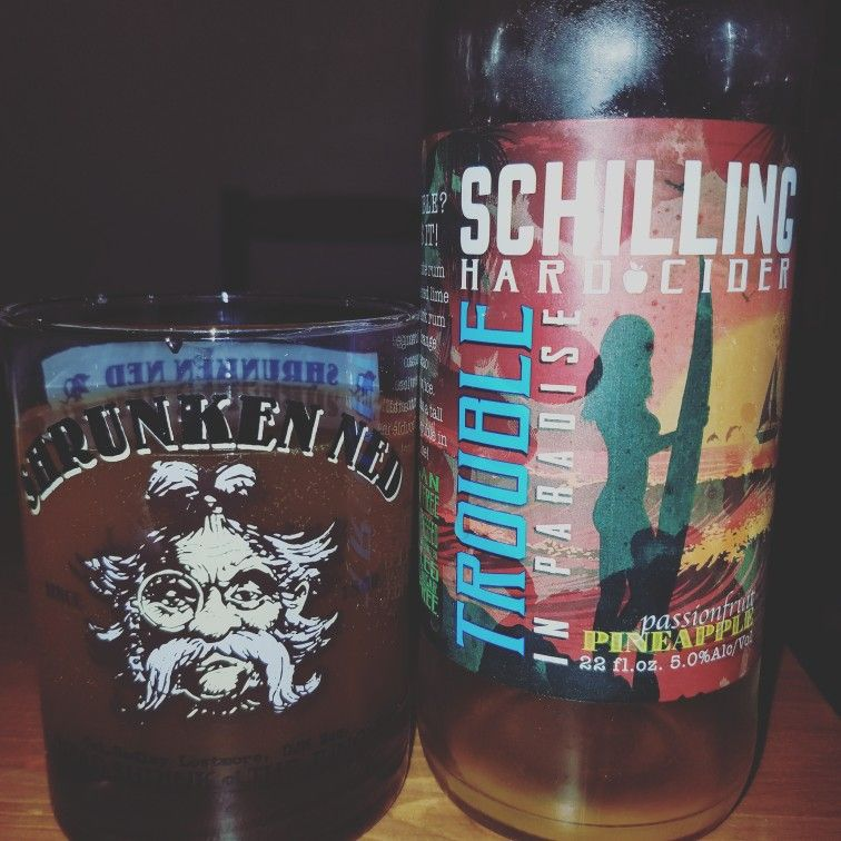Schilling Hard Cider Trouble in Paradise. Passionfruit and