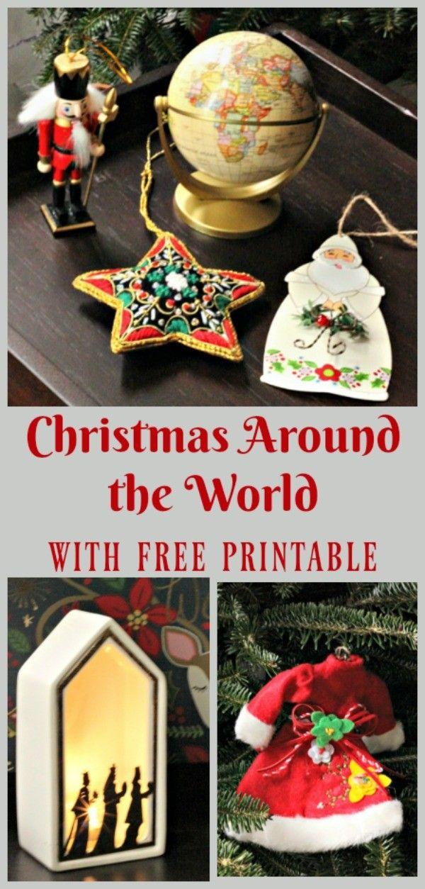 Christmas Around the World Activity {with free printable