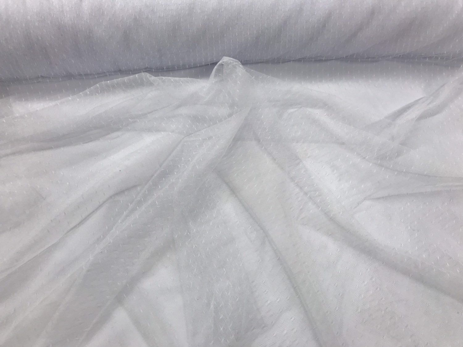Wedding,bridal Sold By The Yard.60inches White 2 Way Stretch Mesh,polyester