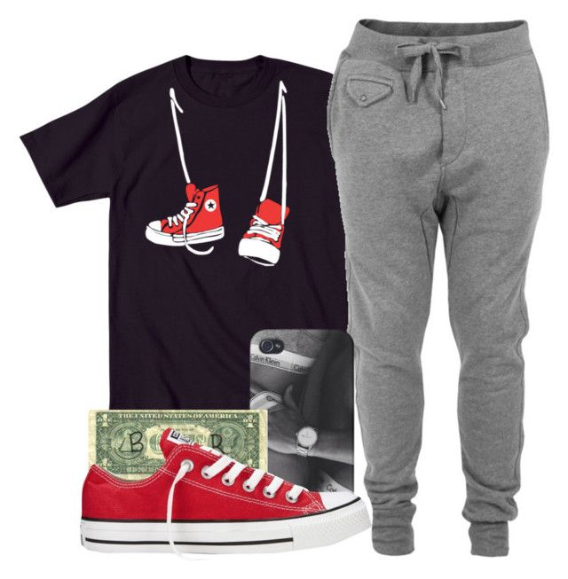 """""""I deserve it."""" by daddyteex3 ❤ liked on Polyvore featuring Humör, Diesel, Carmex and Converse"""