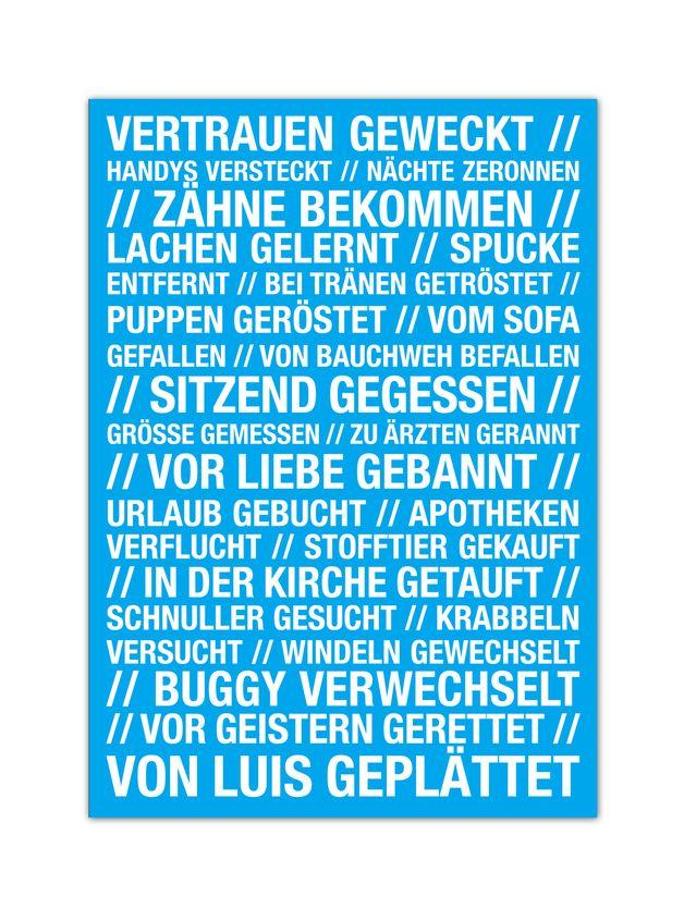 Postkarte Zur Geburt Postcard For The Birthday By W Drei10 Via Dawanda Com Zur Geburt Reime Nette Worte